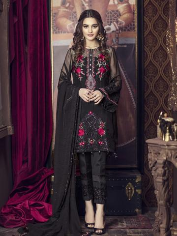 IMROZIA CHIFFON SUIT - Replica - Unstitched
