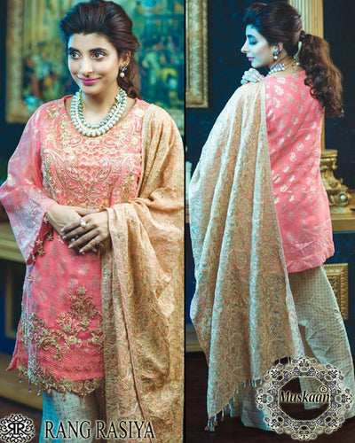 Rangrasiya Chiffon Collection Starring Urwa Hoccane With Chiffon Dupatta (Replica)(Unstitched)