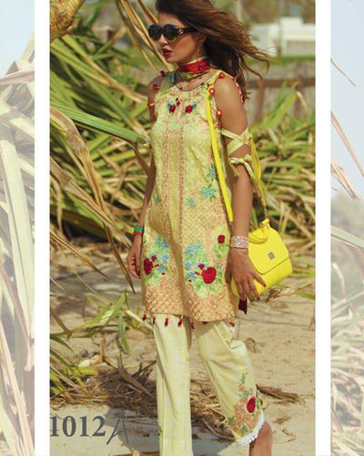 Rangrasiya Pure Lawn With Fantastix Printed Cotton Net Dupatta (Replica)(Unstitched)