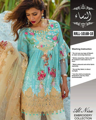 Rangrasiya Luxury Lawn RRLL-1016B (Replica)(Unstitched)