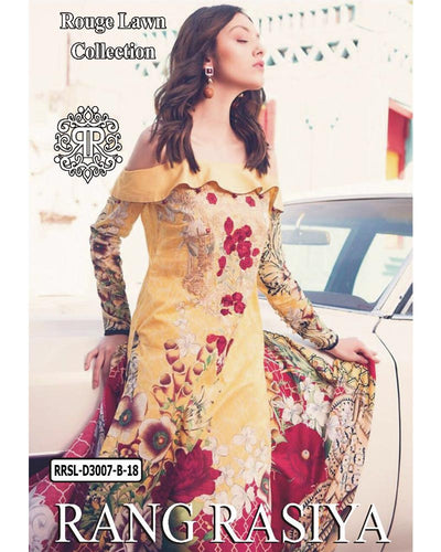 Rangrasiya Rouge Collection Lawn Collection RRSL-D3007-B (Replica)(Unstitched)
