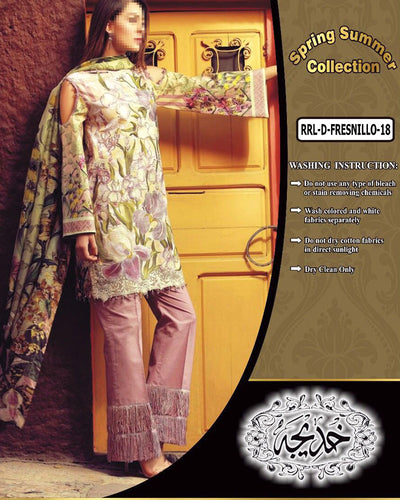 Rangraz Spring Summer Lawn Collection - RRL-D-Fresnillo (Replica)(Unstitched)