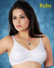 Ruby Bra - Tulip Bra - Cotton Soft Foam Bra - Single Padded Non Wired Bra