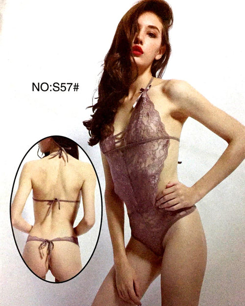 Romantic Net Short Nighty For Women - S57