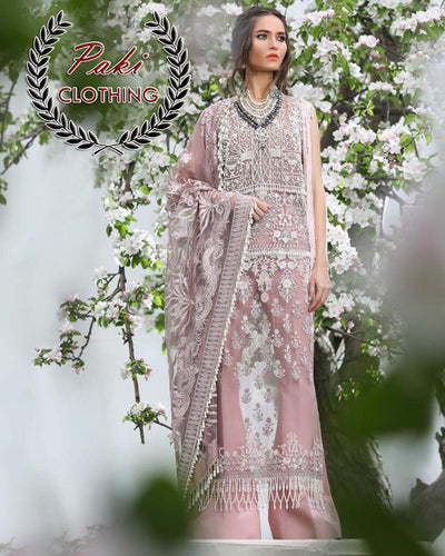 SANA SAFINAZ NET WITH NET EMBROIDERED DUPATTA INNER INCLUDE (Replica)(Unstitched)