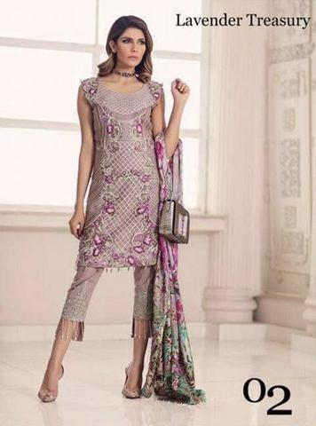 SADIA ASAD LINEN SUIT (Replica) (Unstitched)
