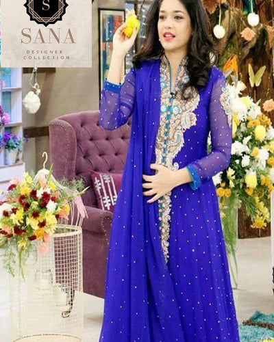 Sana Designer Collection Bridal Embroidered Suit With Heavy Embroidered Dupatta (Replica)(Unstitched)