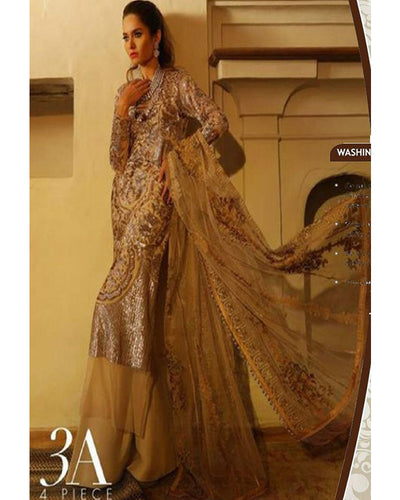 Sana Safinaz Full Net Heavy Embroidered With Net Embroidered Dupatta (Replica)(Unstitched)