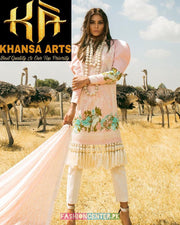 Sana Safinaz Lawn With Broshia Dupatta (Replica)(Unstitched)