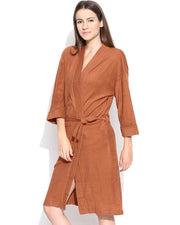 Ladies Bathrobe Soft Cotton - Brown