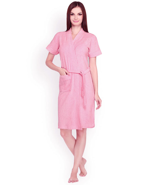 Buy Ladies Bathrobe Soft Cotton - Pink Online in Karachi, Lahore, Islamabad, Pakistan, Rs.{{amount_no_decimals}}, Ladies Bathrobe Online Shopping in Pakistan, Thailand Lingerie, Bathrobe, Clothing, Color = Pink, Made in Thailand, Material = Cotton Towel, Size = Free, Women, Online Shopping in Pakistan - diKHAWA Fashion