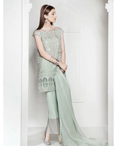 SAPPHIRE CHIFFON COLLECTION WITH CHIFFON DUPATTA (Replica)(Unstitched)