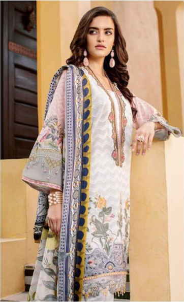 Baroque Collection Now Available Fabric Of Shirt Is Printed Lawn - Replica - Unstitched