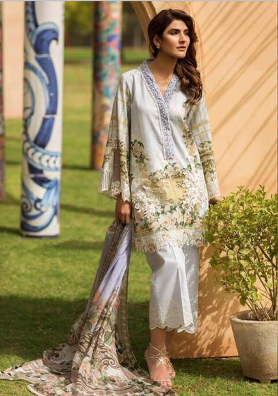 Firdous Collection Now Available Fabric Of Shirt Is Printed Lawn - Replica - Unstitched