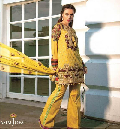 Asim Jofa Now Available Fabric Of Shirt Is Printed Lawn - Replica - Unstitched