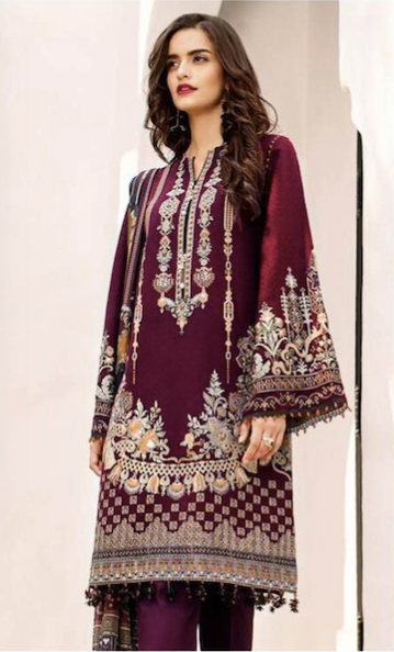 Baroque Now Available Fabric Of Shirt Is Printed Lawn - Replica - Unstitched