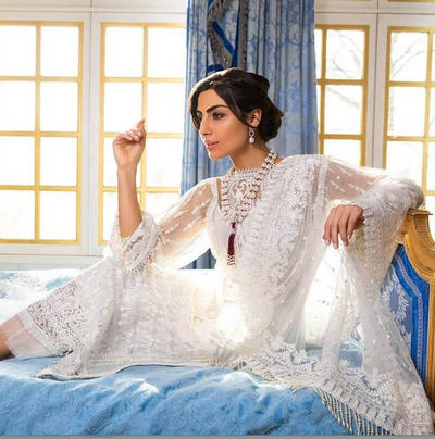 Sobia Nazir Collection Now Available Net Embroidered Front - Replica - Unstitched