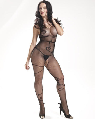Vaqua Body Stocking Fishnet Dress - Ladies Sexy Net Dresses - 8884