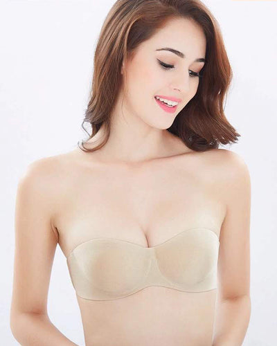 Sexy Pushup Bra - Strapless & 100% Seamless Bra - Underwired - Single-Padded