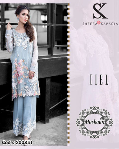 Sheeba Kapadia Chiffon Collection Ciel (Replica)(Unstitched)