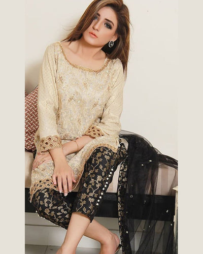 SIDRA MUMTAZ CHIFFON EMBROIDERED COLLECTION (Replica)(Unstitched)