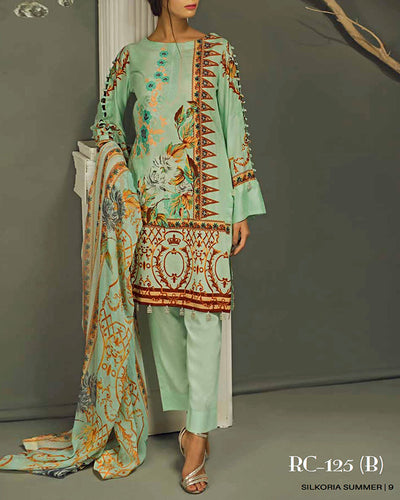 Sana & Sara Collection With Printed Chiffon Dupatta RC-125-B (Original)(Unstitched)