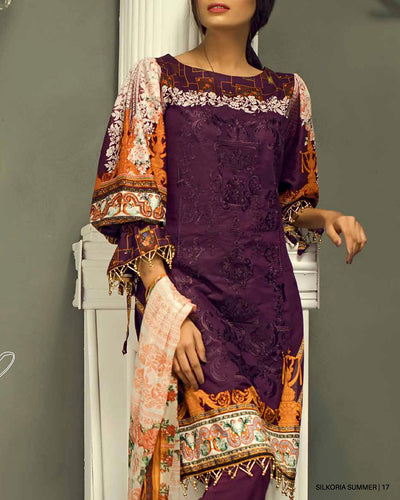 Sana & Sara Collection With Printed Chiffon Dupatta RC-126-B (Original)(Unstitched)