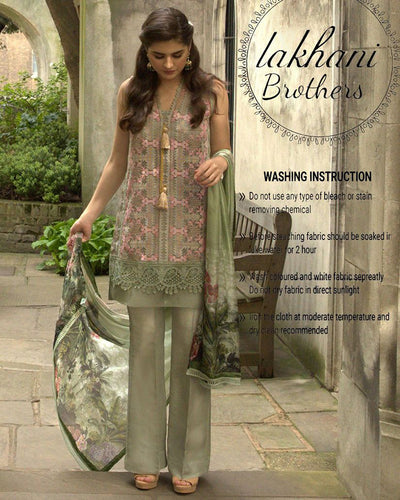 Sobia Nazeer Net Digital Collection With Silk Digital Print Dupatta (Replica)(Unstitched)