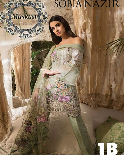 Sobia Nazir Lawn Collection With Heavy Embroidered Dupatta (Replica)(Unstitched)
