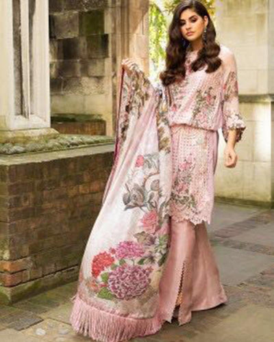 Sobia Nazir Falak Collection With Chiffon Printed Dupatta (Replica)(Unstitched)