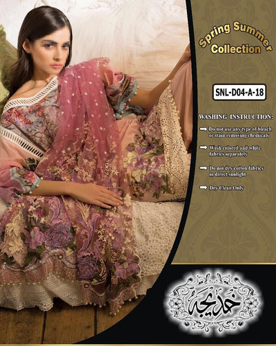 Sobia Nazir Lawn Collection SNL-D04-A (Replica)(Unstitched)