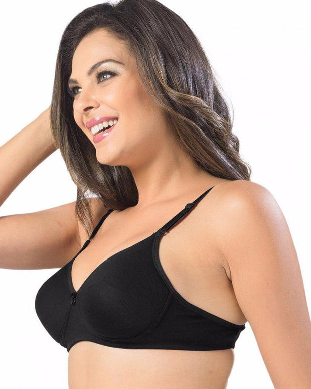 Sonari Catwalk Bra - Black - Non Padded Non Wired - Imported Bra - Bras - diKHAWA Online Shopping in Pakistan