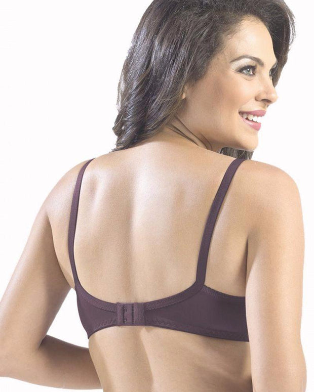 Sonari Loreal Bra - Wine - Non Padded Non Wired - Imported Bra - Bras - diKHAWA Online Shopping in Pakistan