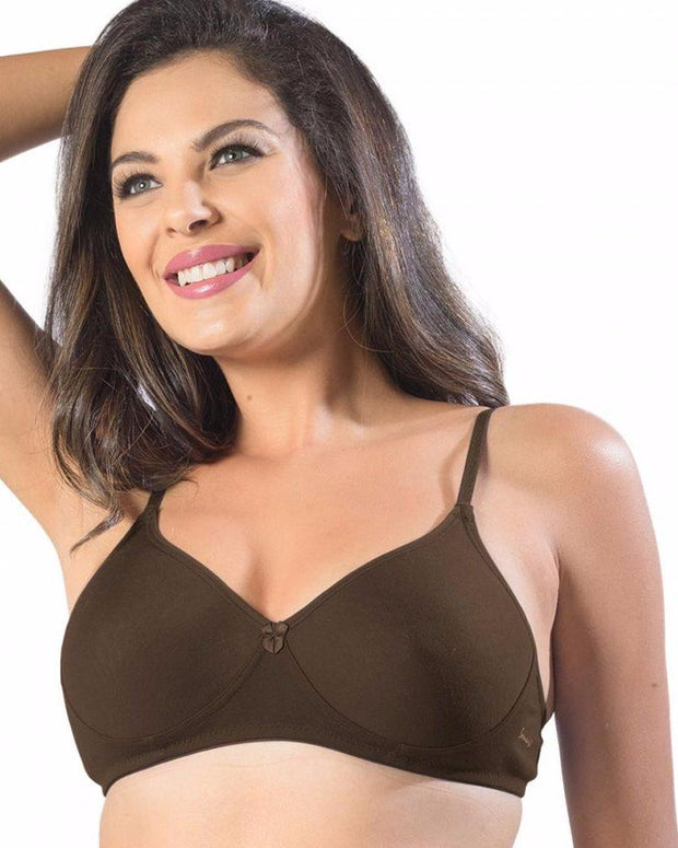 Sonari Smile Bra - Coffee - Non Padded Non Wired - Imported Bra - Bras - diKHAWA Online Shopping in Pakistan