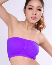 Purple Sports Bra Strapless Non Padded - Bras - diKHAWA Online Shopping in Pakistan