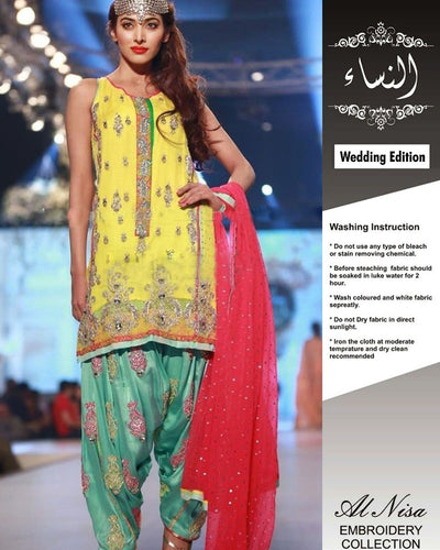 Tabassum Mughal Wedding Edition Sequence Work Embroidery (Replica)(Unstitched)