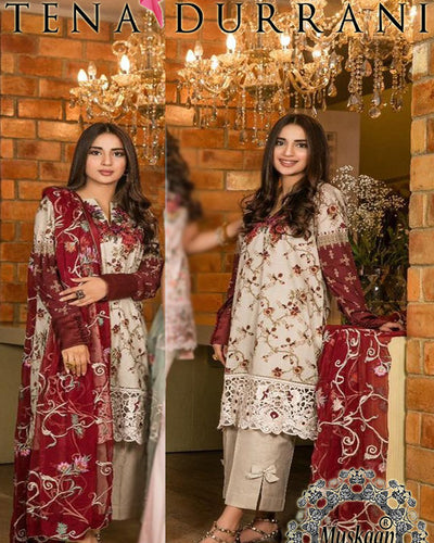 Tena Durrani Cotton Collection 2018-10A HIT CODE (Replica)(Unstitched)