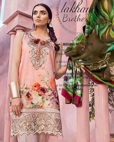 Tina Durrani Digital Lawn Collection (Replica)(Unstitched)