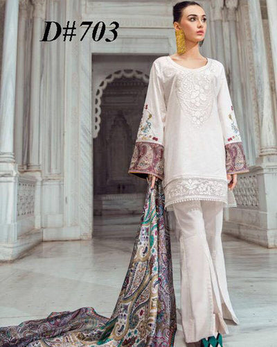 Tina Durrani Printed Lawn With Chiffon Printed Dupatta (Replica)(Unstitched)