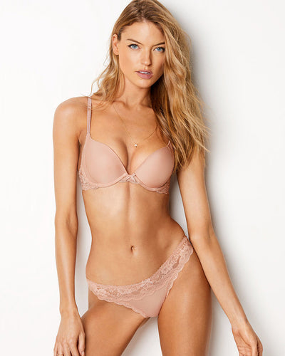 Victoria's Secret - Single Padded Bra And Panty Set - Skin