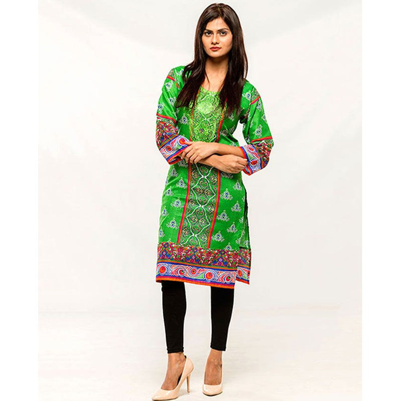 Women Embroidered Stitched Kurti Online Shopping in Pakistan