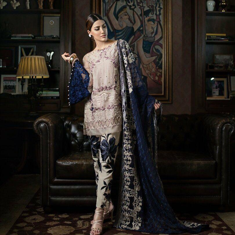 Erum Khan Chiffon Embroidered Collection