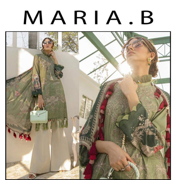 MARIA B 3 piece Printed Lawn Suit With Lawn Dupatta 2020 Collection Hit Code
