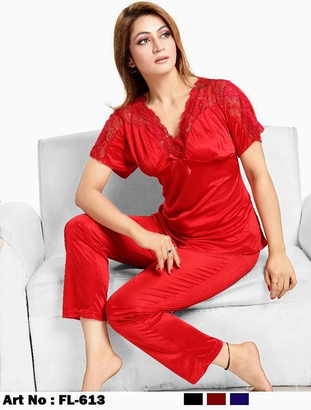 Flourish Nightdress - FL-613 - Ladies Nightdress - diKHAWA Online Shopping in Pakistan