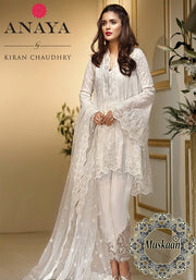 Anaya Chaudary Chiffon Eid Collection ALF-06 Cotton Candy(Replica)(Unstitched)