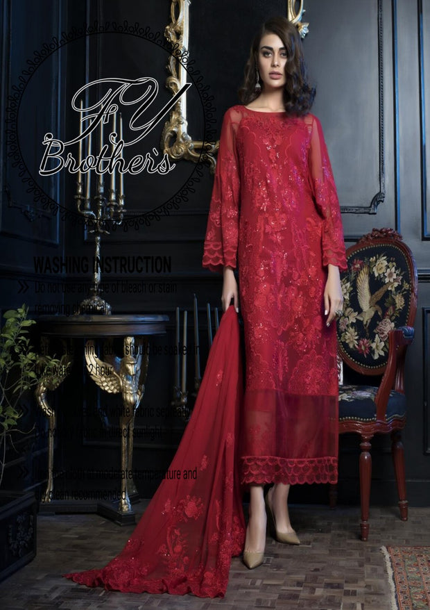 Bridal Honey (Chiffon Collection) EMBROIDERED COLLECTION (Replica)(Unstitched)