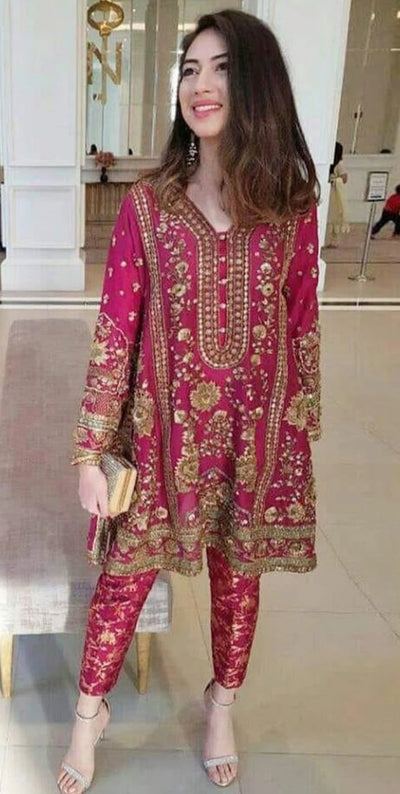MEENA HASSAN Chiffon Winter Collection Replica