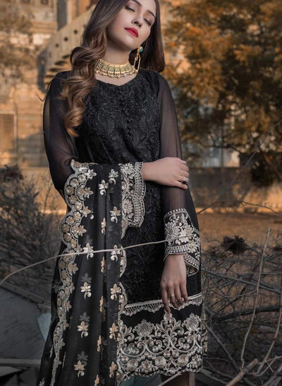 AGHA NOOR Chiffon Winter Collection Replica