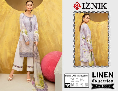 Iznik Fabric LINEN With Wool shawl