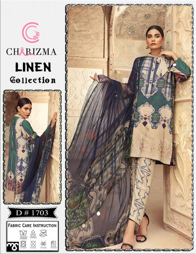 Charizma Fabric Linen With Wool Shawl